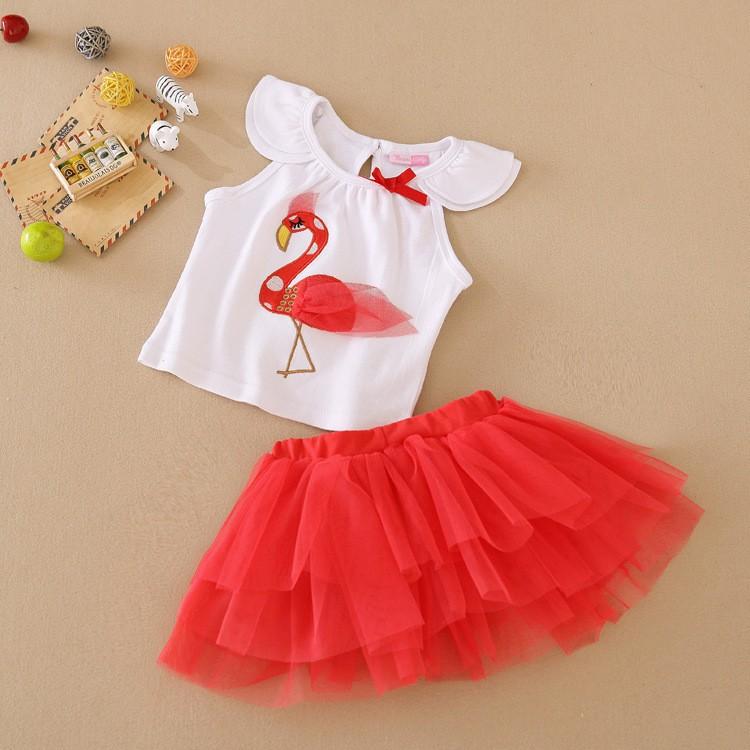 Newborn Toddler Girls Skirt Short Sets White Lace Flying Sleeve Shirt Tops Short Pants Tutu Skirt Summer Clothes