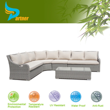 5Pcs Light-Colored Cosy Wicker Garden Lounge Couch Sofa Set Rattan Indoor Outdoor Furnitures Wholesale