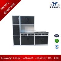 china new style metal kitchen cabinet furniture / knocked down metal kitchen cabinet for sale