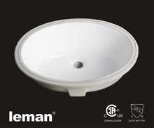 AP406 Bathroom Oval Undercounter Ceramic Sinks With CSA / UPC Certificate