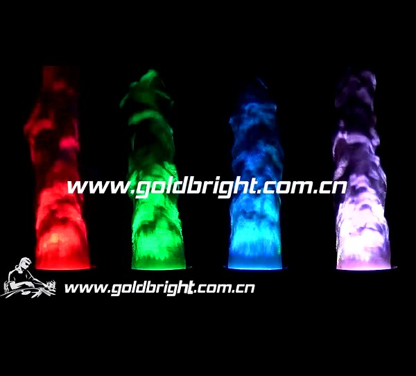 RGB led fire effect fake flame with silk cloth light