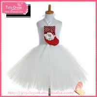 Tutu dress hot sale white christmas dress, dresses for girls age 1-13