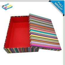 Trade Assurance Supplier 2015 New design stripe paper packaging gift box jewelry