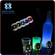 Best Selling Products In America Fashional Custom Your Own Logo Flashing Coasters,led sticker for bottle