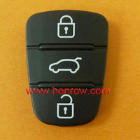 Best quality Hyundai replacement 3 button rubber remote key pad for hyundai I30 and IX35 car key