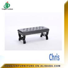 Wooden Modern Long Soft Fabric Bench(YJ-5001)
