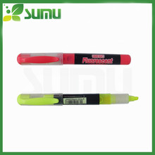 beautiful ball pen with highlighter