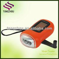 3 LED Solar power Flashlight/dynamo solar flashlight/crank dynamo torch