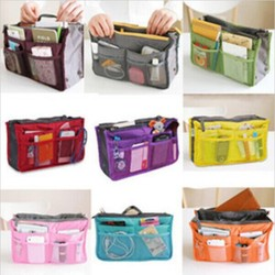 Large storage bag Hot necessaire women Purse Handbag Organizer Organiser Travel Travelling Bag Insert Liner cosmetic bag