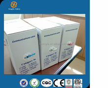 High quality low price 24awg UTP cat5e cooper lan cable with ETL