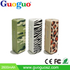 Customized Optional Colors Mini USB 2600mAh Portable Power Bank Battery Charger for Smart Phone HTC LG Samsung