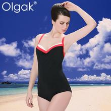 Olgak 2016 moda de encaje caliente trajes de baño de una pieza del traje de baño