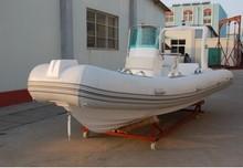 Silver marine inflatable rigid boat 5.8m fiberglass open boat