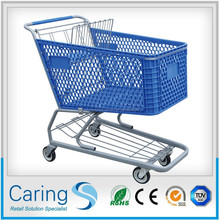 plastic supermarket shopping cart trolley for sale