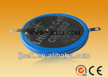 CR lithium coin cell or AG alkaline button cell battery with pins