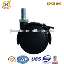 2 inch Dual Wheel Nylon Furniture Caster with brake