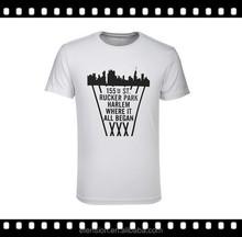 Wholesale New Design OEM Supply Mens 100 Cotton White T Shirt Custom Printing