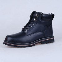 Mens anti-slip Goodyear style safety shoes work boots with steel toe