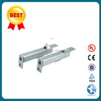 Double auto action flush door bolt for fire rated doors