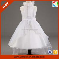 Best selling nice sleeveless flower girl dresses india wholesale (Ulik-A0193)