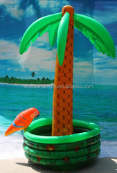 2015 hot sale inflatable palm tree in pool cooler PVC advertising inflatable palm tree ice bucket giant pvc beer cooler