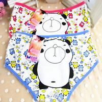 7305 OEM service accept customized design women printed bear underwear export USA kids clothing 100 cotton girl cartoon panties