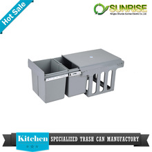 home decoration stainless steel open top structure kitchen cabinet dustbin