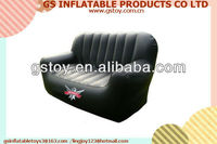 PVC inflatable comfortable black inflatable cooler sofa EN71 approved
