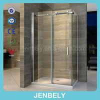 Jenbely popular SS big roller sliding shower enclosure