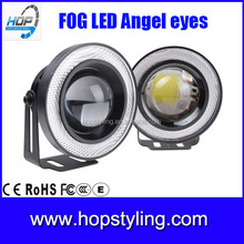 "Direct Factory offer 2.5"" 3"" 3.5"" 30W Projector Lens Halo Ring COB Angel Eyes Led Fog Light"