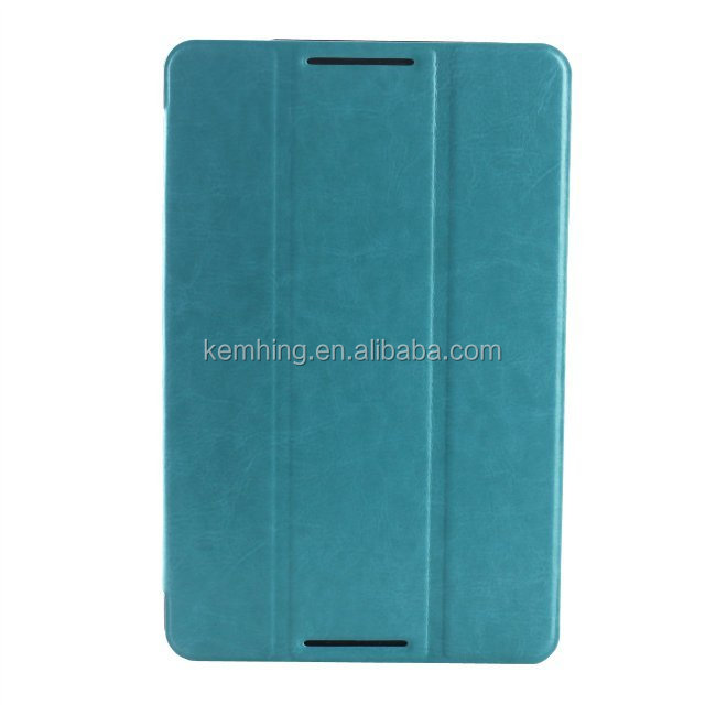 Crazy horse pattern leather flip case for Lenovo A8-50 A5500 folio stand cover