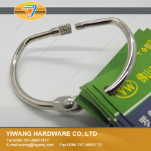 Newest attractive eco-friendly wholesale metal threaded binder ring for swatches