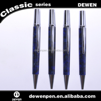 New stylish engraved metal blue acrylic pen luxury pen