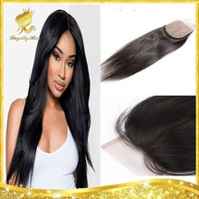Royally Hair 4X4 silk base closure wholesale free part/middle part/3 way part brazilian virgin hair closure with baby hair