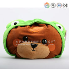 Cute plush animal shaped cushion for kids