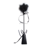 Fetish Both Use Butterfly Knot Feather Tickler With Paddle Bondage /Restraint For Man And Women Flirting