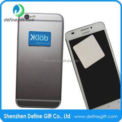 Mini Rectangle Shape Custom Microfiber Sticky Smartphone Adhesive Screen Cleaner