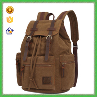2016 New Products Fashion Design Tope Genuine Leather Men's Bag Canvas Bags Backpack