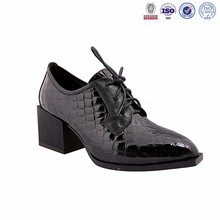 2015-16 new special rhinestone genuine leather european buyer of garments perfect dress lace up shoes footwear