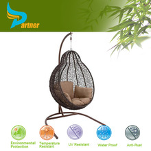 Partner New Popular Hottest Eco Friendly PE Birdcage Shaped Knoll Oval Rattan Egg Chair