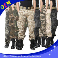 2014 casual and slim fit high quality custom mens military camo cargo pants