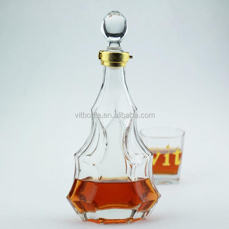 En Forme De coeur En Verre 750ml Bizarrement En Forme De Bouteilles de Vin En Cristal de Bouteille De Liqueur