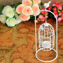 Resin bird cage Continental Iron Candlestick candle wedding gifts upscale fashion creative home decorations