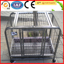 High Quality Square Tube Aluminum Dog Cages With Wheels For Sale
