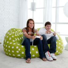 6 ft. Twill Fuf Foam Bean Bag Sofa