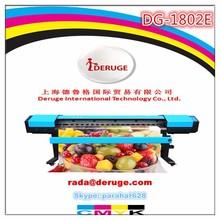 Economic 1.8m Eco Solvent Printer Deruge DG-1800E With DX7 Head