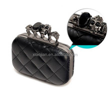 Hot Sell Quilt Skull Box Evening Party Clutch bag (LCHEB303)