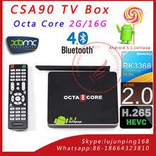 CSA90 Andriod 5.1 Octa Core TV BOX RK3368 2G/16G Media Player 4Kx2K Full HD BT4.0