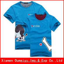 Wholesale price soft customed couple t-shirt