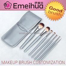 new silvery make up brush set girls makeup kit